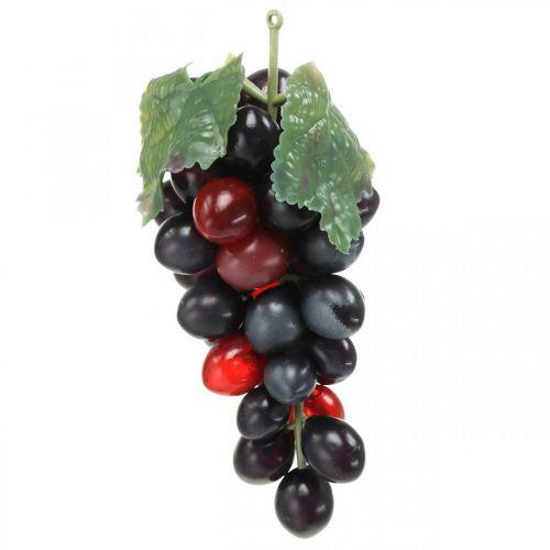 Deco Grape Black Deco Fruit Artificial Grapes 15cm