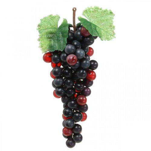 Deco Grape Black Artificial Fruit Window Decoration 22cm