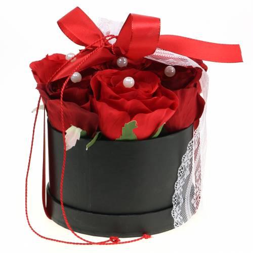 Flower Box Heart Red 18/20cm Zestaw 2 szt.