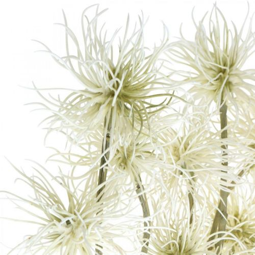 Xanthium Artificial Flower Cream Autumn Decoration 6 Flowers 80cm 3szt.