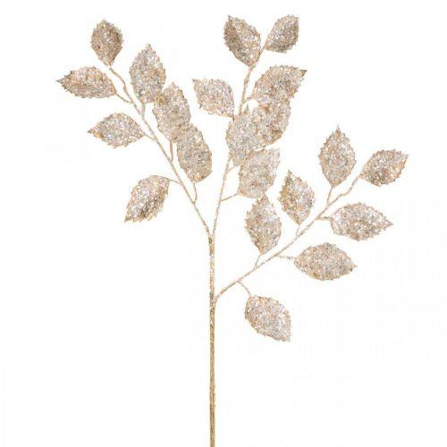 Deco Branch Gold and Glitter Dekoracja Bożonarodzeniowa Gałązka Glitter 65cm