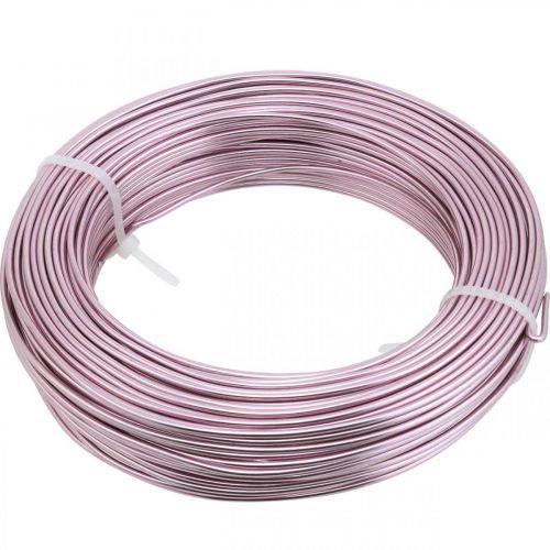 Drut Aluminiowy Ø2mm Różowy Deco Wire Okrągły 480g