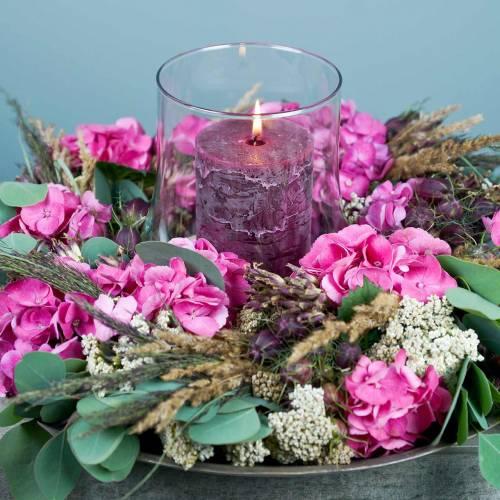 Solidny kolor świece burgundy różne rozmiary