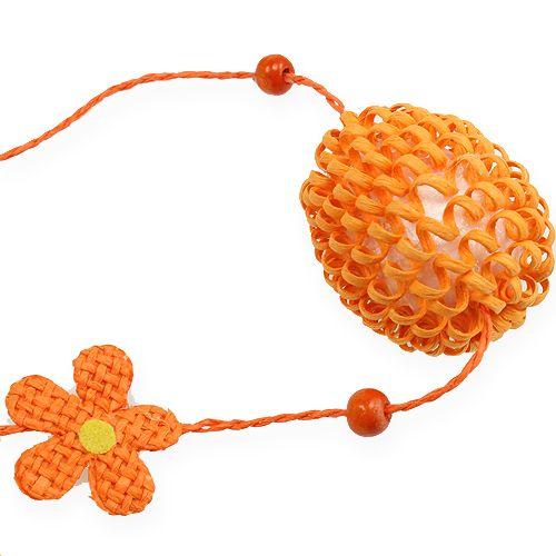 Wielkanocny wisiorek, girlanda jajeczna pomarańczowy 120 cm