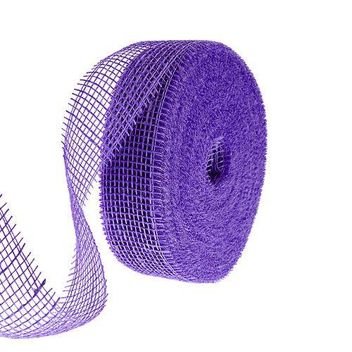 Wstążka jutowa fioletowa 5cm 40m