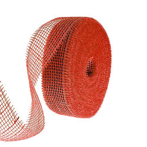 Wstążka jutowa czerwona 5cm 40m