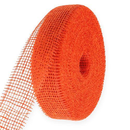 Wstążka jutowa pomarańczowa 5cm 40m