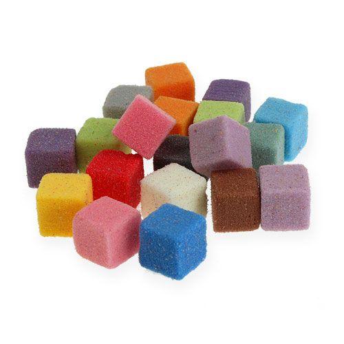 Mokre kwiatowe mini kostki piankowe kolorowe kolorowe 300szt