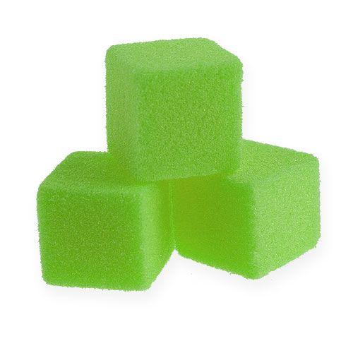 Mokra pianka mini kostki zielone 300szt