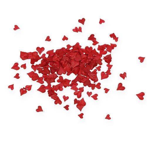 Scatter dekoracja serca czerwone 5-8mm 1000szt.
