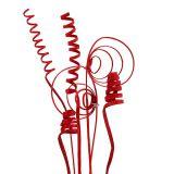Asortyment trzciny mini czerwony 75szt