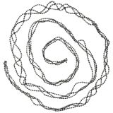 Świąteczna dekoracja perłowa girlanda szara 275 cm