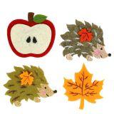 Jesienna dekoracja do nakładania i klejenia filcu 12szt