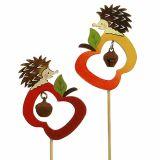 Jeż Herbststecker z Jabłkiem 7cm 12szt